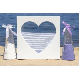 Набор для песочной церемонии Сердце белое
