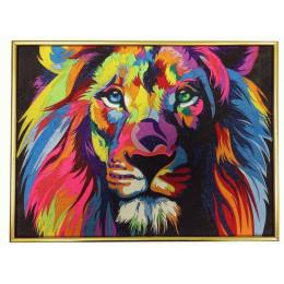 Картина из цветного песка Лев