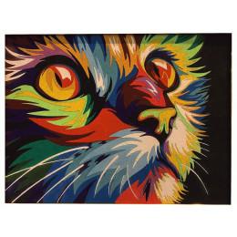 Картина из цветного песка Кот