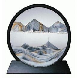 Картина Живые пейзажи в круглой черной раме