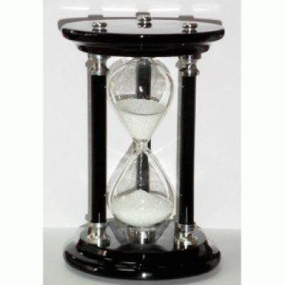 Деревянные песочные часы на 10 минут с блестящим белым песком