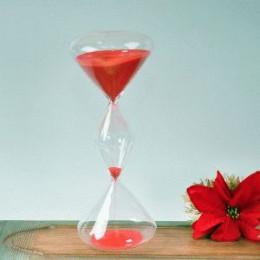 Тройные песочные часы на 30 минут с красным песком