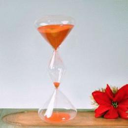 Тройные песочные часы на 1 час с оранжевым песком