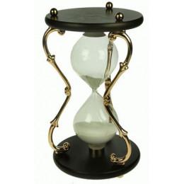 Большие песочные часы на 60 минут с белым песком