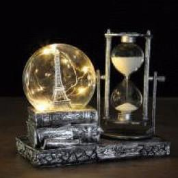 Песочные часы Париж с подсветкой
